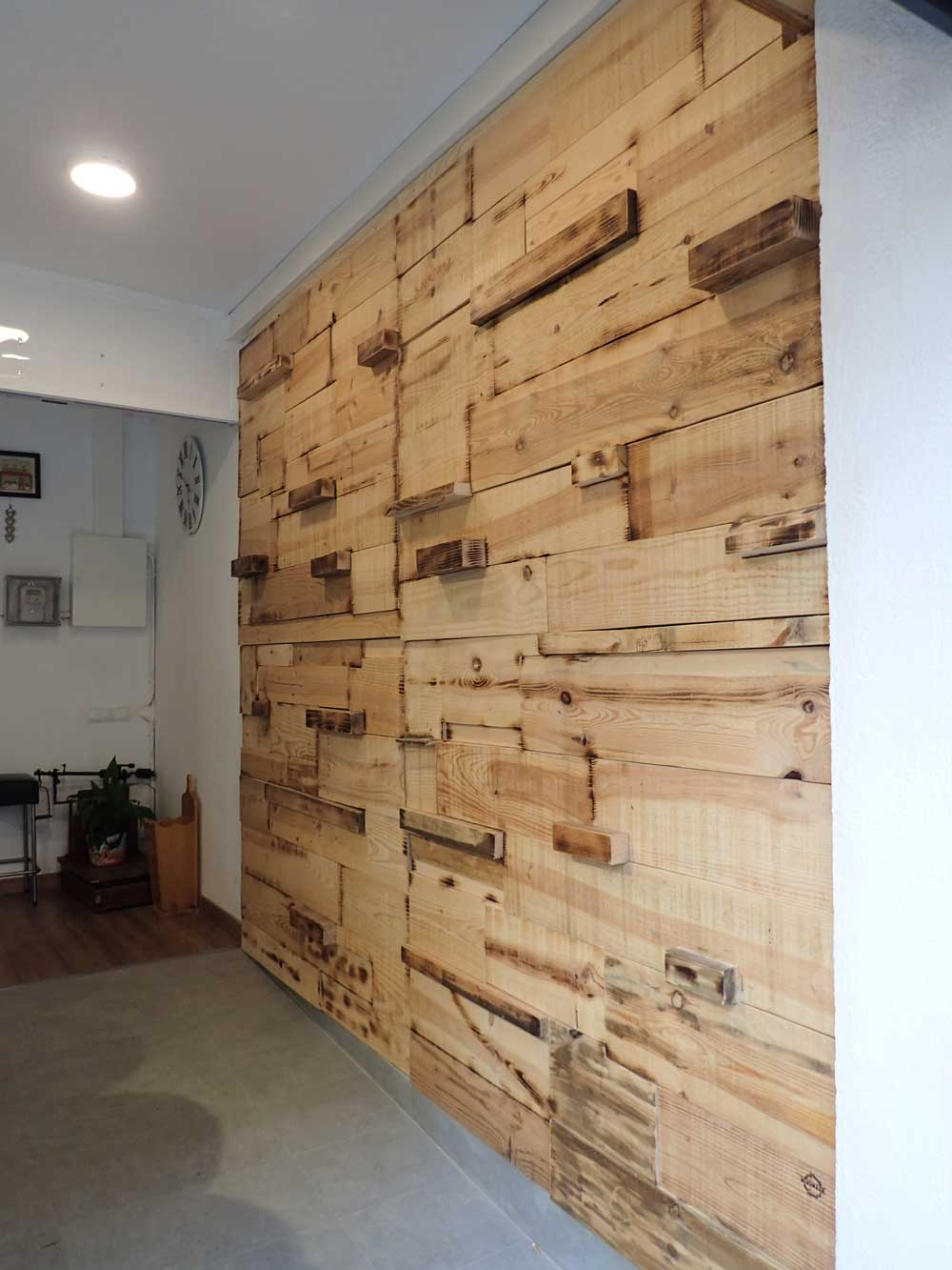 Muebles de madera de pino natural para tienda ecol gica y - Muebles en madera de pino ...
